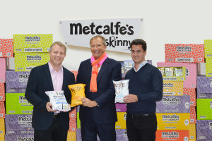 Managing Director of KETTLE® Chips Ashley Hicks, Co-Owners of Metcalfes skinny Ltd Julian Metcalfe and Robert Jakobi (from left to right)