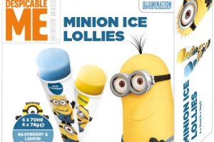 Minion ice lollies pack shot