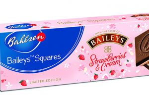 Bahlsen launches limited edition Baileys Squares Strawberries & Cream biscuits