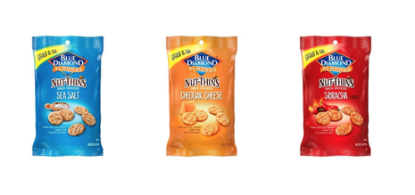 Blue Diamond Nut-Thins gets snack bags