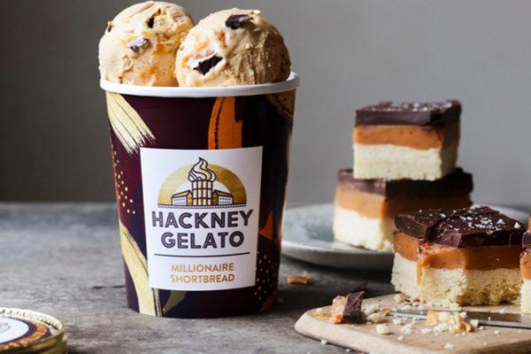 Hackney Gelato launches UK's first Millionaire Shortbread gelato