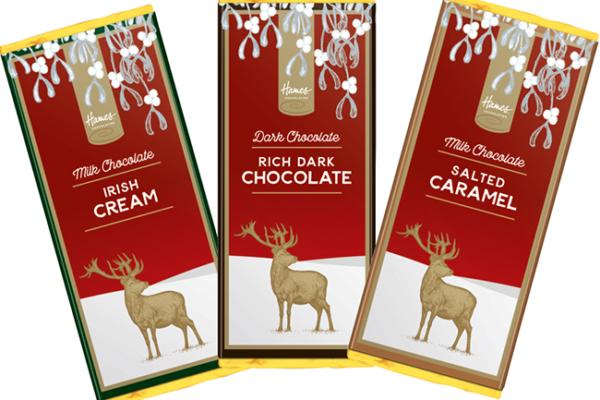 Hames Chocolates launches British chocolate Christmas stag range