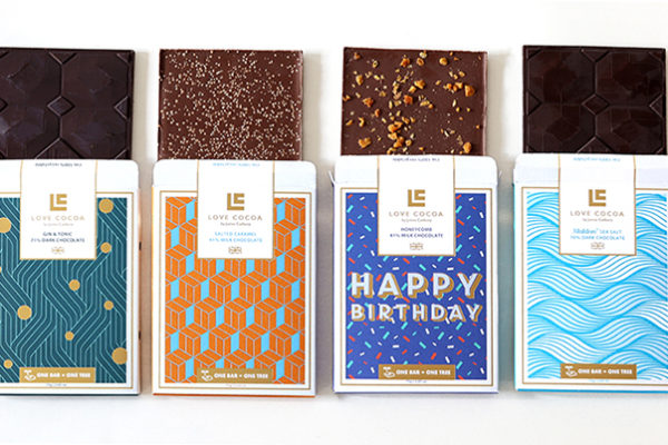 Love Cocoa launches bestselling bars on Ocado