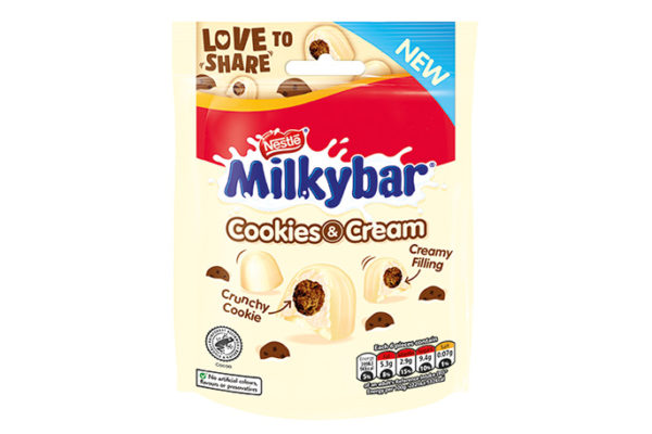 Milkybar adds Cookies & Cream sharing bag to the mix