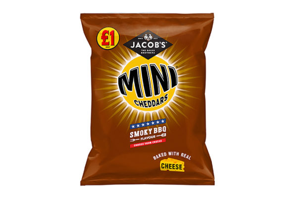 pladis launches Jacob's Mini Cheddars Smoky BBQ in PMP format