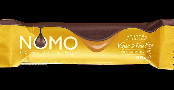 NOMO introduces free-from Caramel Choc Bar