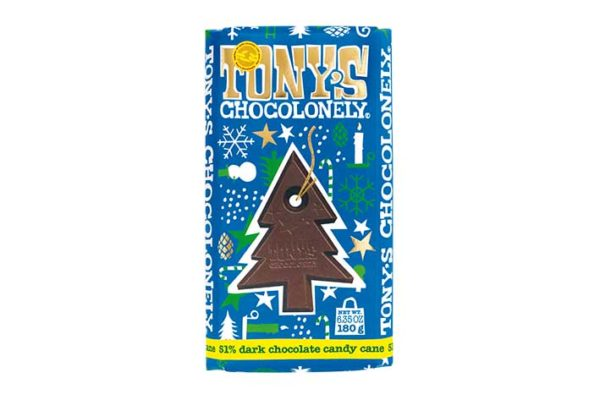 Tony's Chocolonely offers Edible Tree Ornaments this Christmas