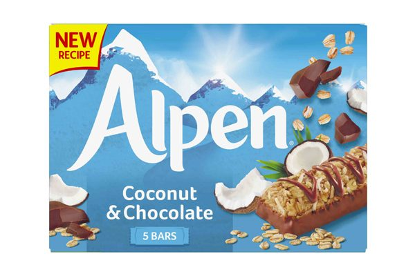 Alpen brings back coconut variant and new branding