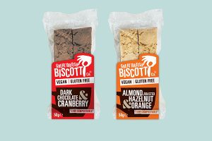 Great British Biscotti Co introduces plant-based lines & compostable packaging