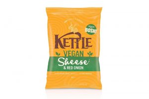 Kettle launches vegan cheese & onion crisps