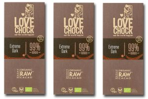99% cocoa bars from Lovechock