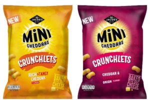 pladis brings lighter format to crisp aisle with new Jacob's Mini Cheddars Crunchlets