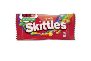 Promotional Skittles packs